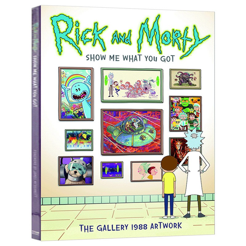 Hot Books Rick And Morty 1988 หนังสือศิลปะภาษาอังกฤษ