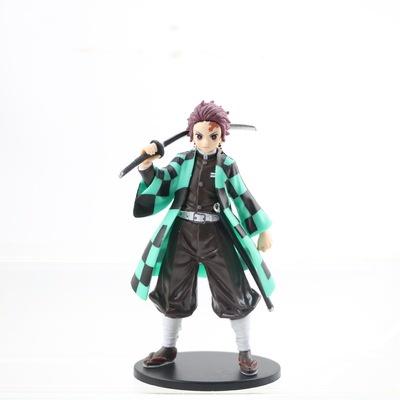 เครื่องประดับ:Anime Demon Slayer Figure Tanjiro Nezuko Shinobu Zenitsu Figurine Kimetsu No Yaiba Inosuke Action Figure H
