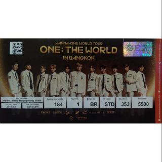 wanna one, one: the world in bangkok used paper ticket 5 AUG 2018