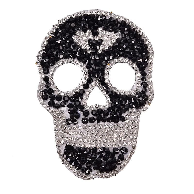 Neckline Collar Iron on Patches Crystal Applique Hot Fix Rhinestones Sticker