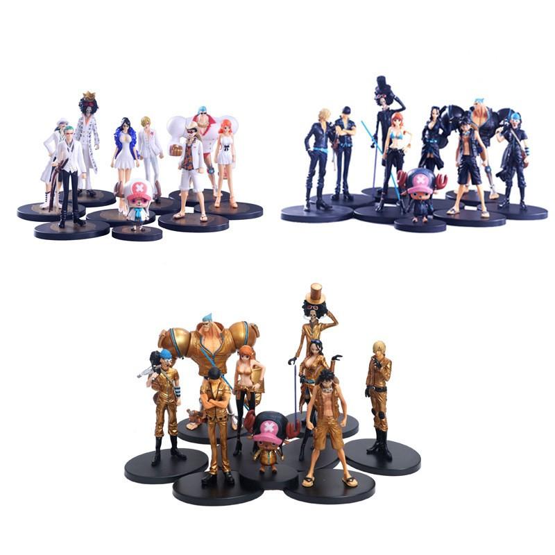 [พร้อมสต็อก]  One Piece Theme Doll Toy Straw Hat Gang Full 9PCS/Set PVC FIGURE GARAGE KIT 8~22cm