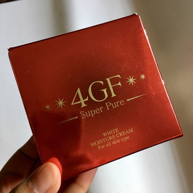 4 GF Super Pure White Moisture Cream (50 g) บินเอง(พ.ย62) ของแท้100%