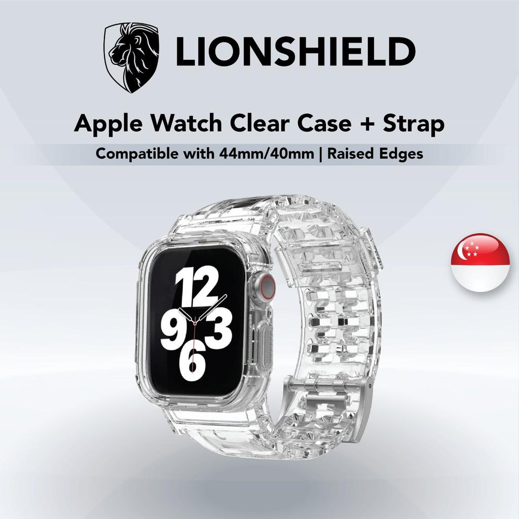 [SG] Apple Watch Case + Strap (Clear/Transparent) - 44mm/40mm, Series 6/SE/5/4