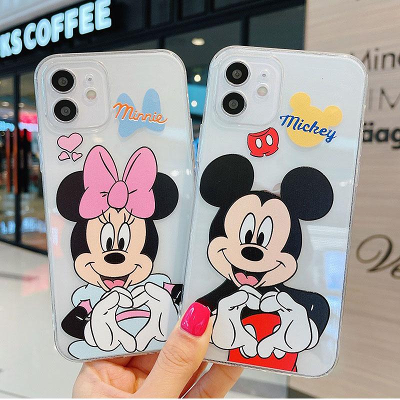 Cute Mickey Minnie Disney soft Case Samsung A8+ /A8Plus 2018 A8 2018 A7 2018 A6+ /A6Plus 2018 A6 2018 A9 2018 A7 2017/A720 A5 2017/A520 A3 2017/A320 J8 2018 J6 2018 J6Plus/J6+ J4 2018 J4Plus/J4+ J7Plus J7Pro J7Prime J710/J7 2016 Note9 Note10 NOTE10Plus