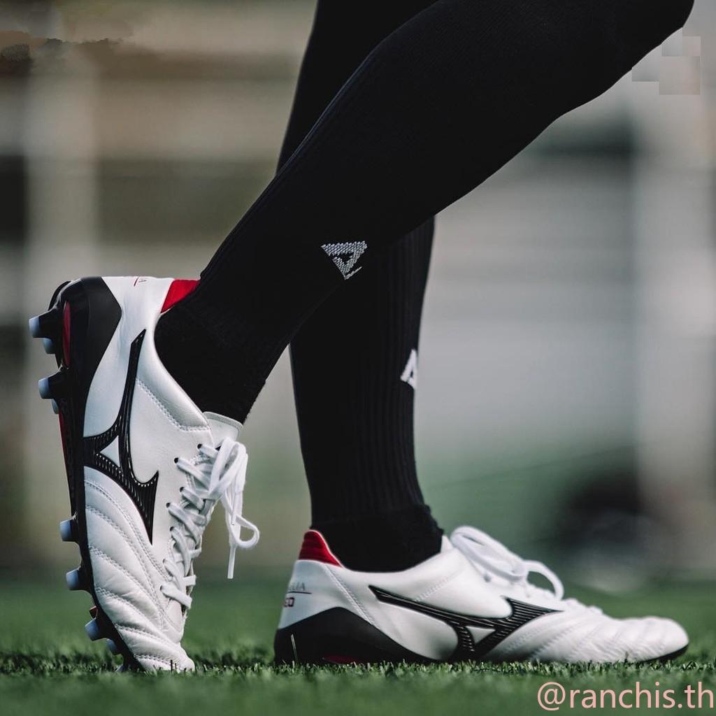 [พร้อมกล่อง] แท้จริง รองเท้าฟุตบอล Mizuno Morelia Neo II 39-45 แดงดำน้ำเงินญี่ปุ่น