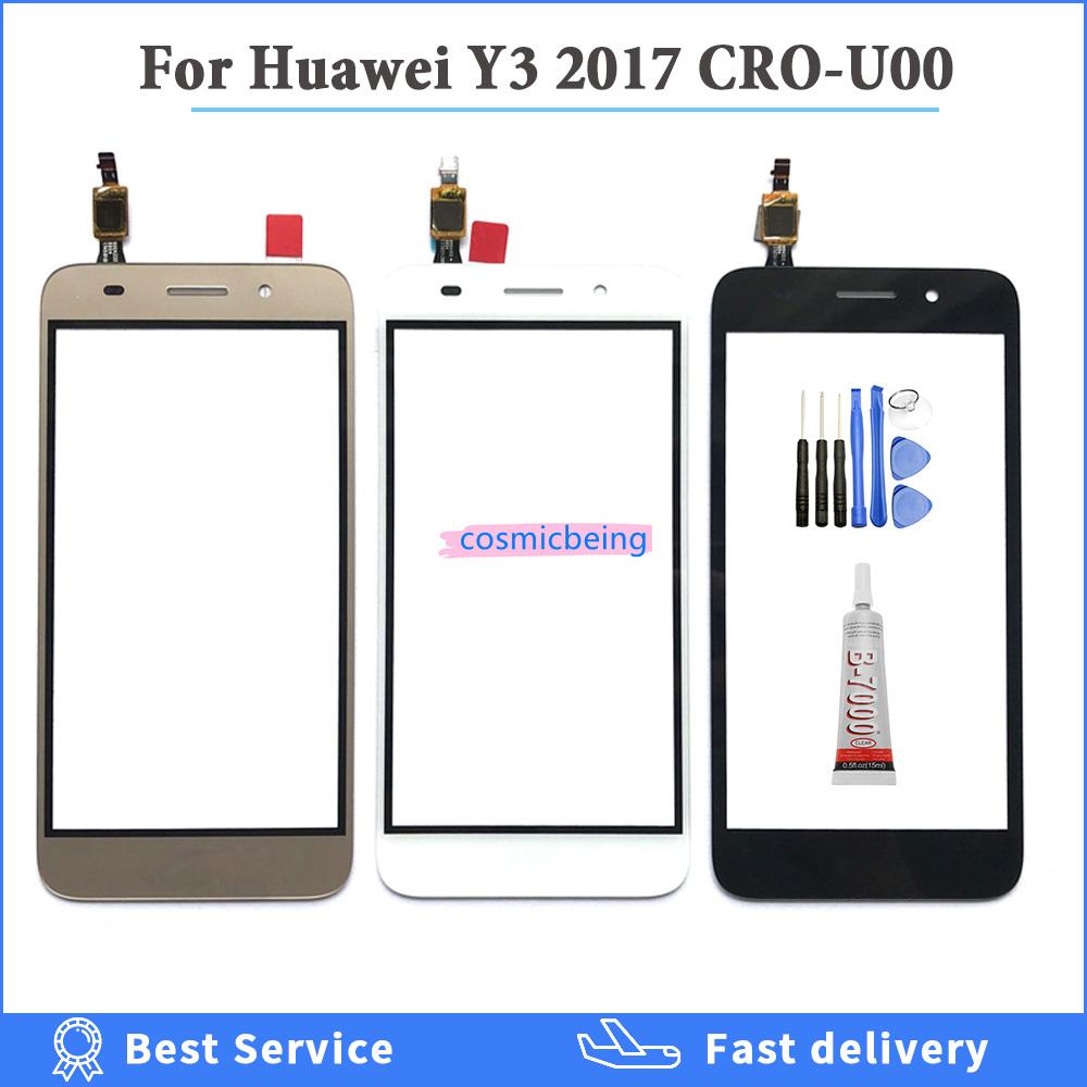 หน้าจอสัมผัสสําหรับ Huawei Y3 Cro - U00 Cro - L02 Cro - L22