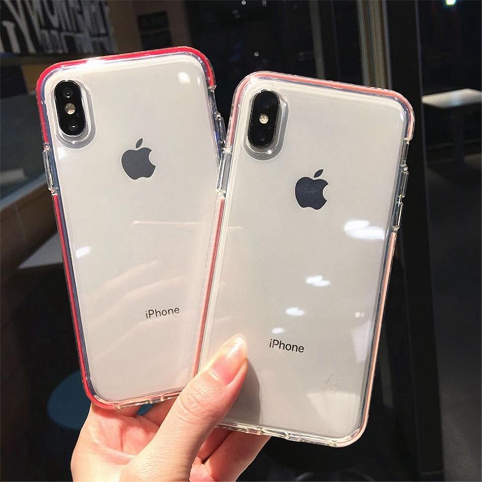 เคสโทรศัพท์มือถือแบบสองชั้นสําหรับ Iphone 6 6s 7 8 Plus Xs Max Xr