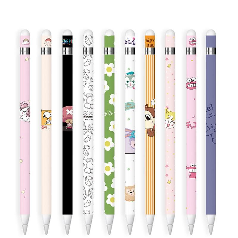 diy▤◈สติ๊กเกอร์ Sticker Apple pencil รุ่น 1 ลาย 1-20 ลายน่ารักๆ ลอกออกไม่ทิ้งคราบ