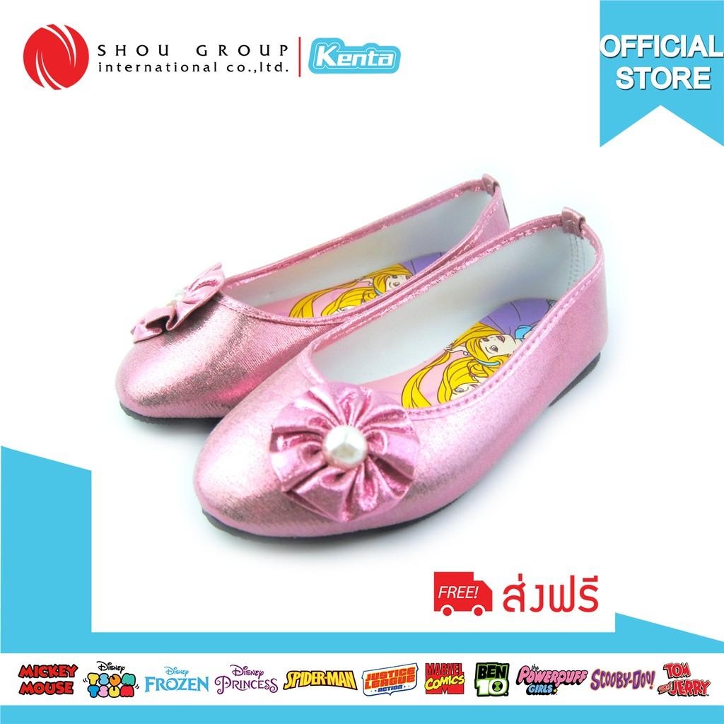 รองเท้าคัชชูส้นแบนเด็กผู้หญิงลาย Princessรองเท้า เด็ก ผู้หญิง