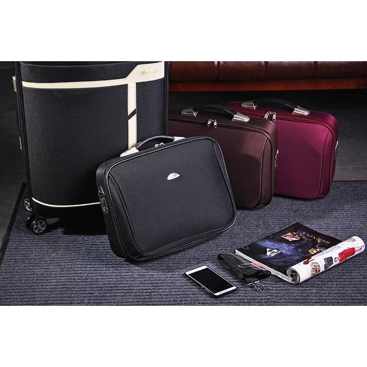 ◈กระเป๋าเดินทางผ้า กระเป๋าเดินทางธุรกิจ (กระเป๋าถือ14นิ้ว) กระเป๋าท่องเที่ยว ใช้ได้ทั้งผู้หญิงผู้ชาย ล็อครหัสผ่าน มีซิป�