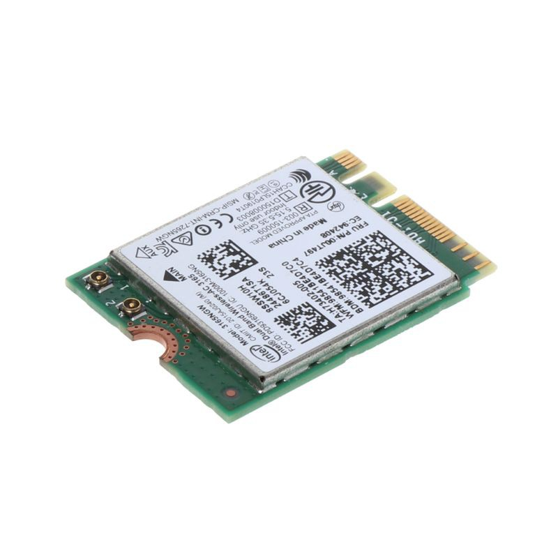 Intel 00JT497 3165NGW Wireless-AC for Lenovo Bluetooth WiFi IBM Card NGFF Wlan
