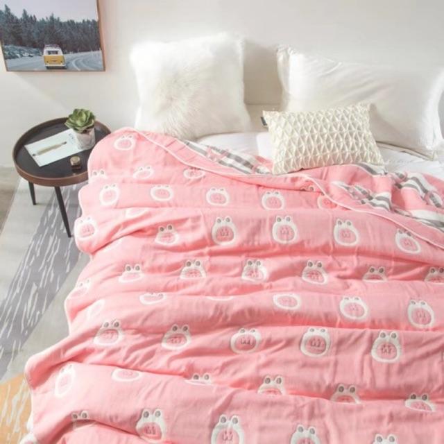 ผ้าห่มสาลู 6ชั้น ขนาด 6ฟุต(180*200cm)
