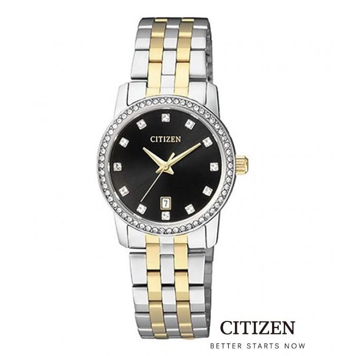 CITIZEN EU6034-55E Swarovski Two-Tone Lady Watch Quartz