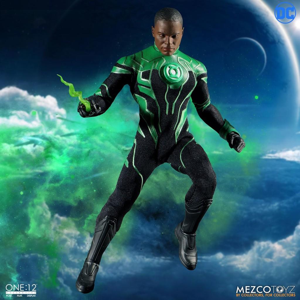 Mezco One:12 Collective John Stewart The Green Lantern Action Figure