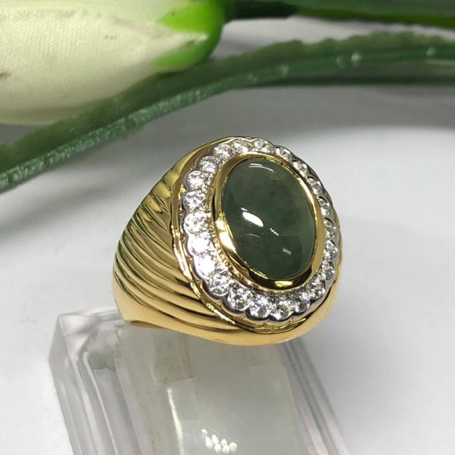 แหวนชายสวยๆทองแท้หยกแท้ราคาโรงงาน