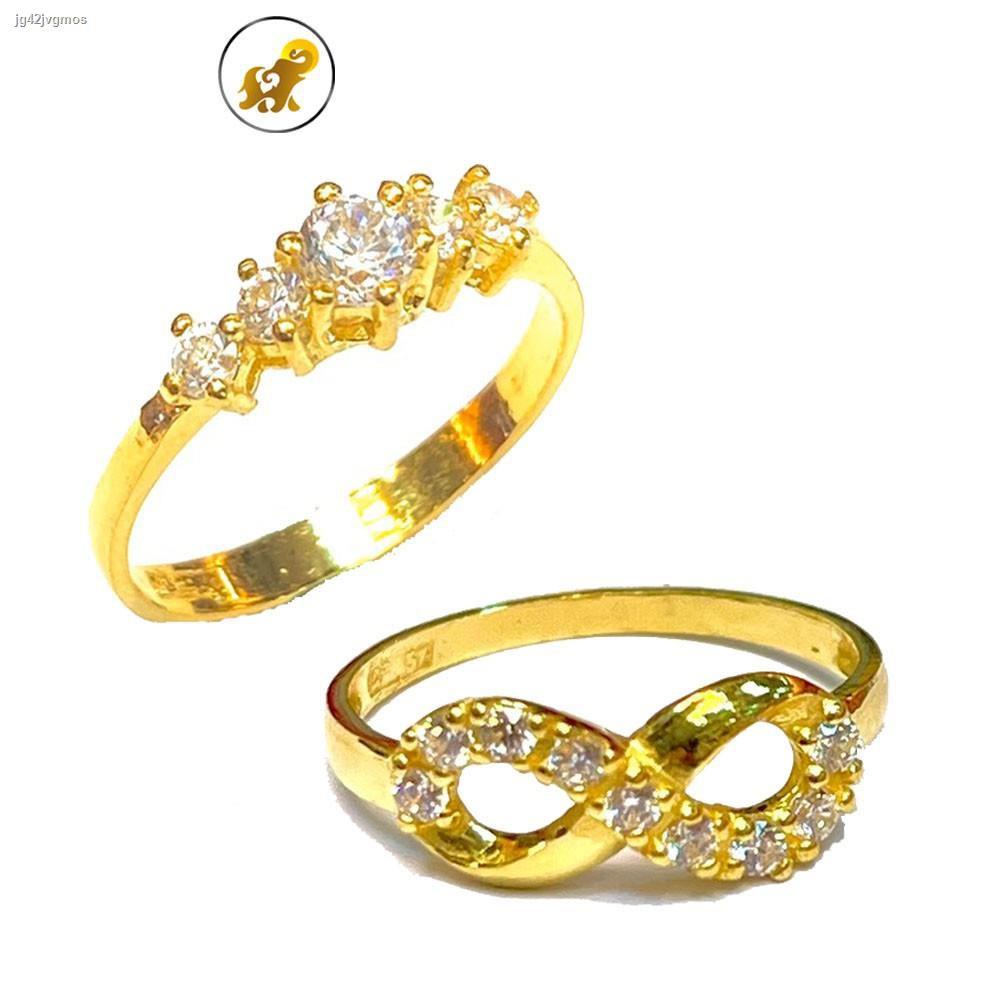 ราคาต่ำสุด▬PGOLD แหวนทองครึ่งสลึง เพชรสวิสก้านอิตาลี หนัก 1.9 กรัม ทองคำแท้ 96.5% มีใบรับประกัน