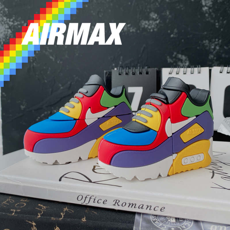 """In Stocks Air Max 90 """"Viotech"""" AirPods Pro Case Earphone Protective Case Street Fashion Apple Wireless Bluetooth Headpho"""