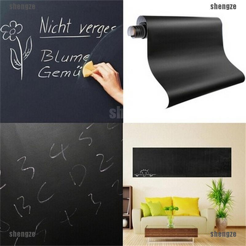 Removable Board Blackboard Vinyl Wall Sticker Chalkboard Decal 45*200cm
