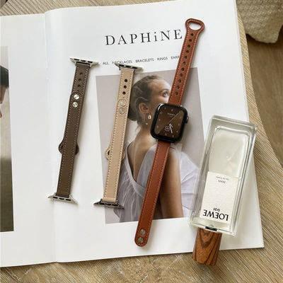 สาย applewatch สายนาฬิกา สายนาฬิกา applewatch สายนาฬิกาอัจฉริยะ Applying AppleWatch straps double nail leather small wai