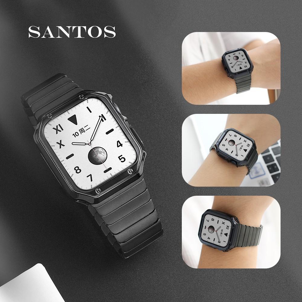applewatch6 เข็มขัด™สายโลหะ iwatch ที่ใช้งานได้, สายรัด applewatch ในตัวเคสป้องกันนาฬิกา Apple 6 / SE 5/4/3