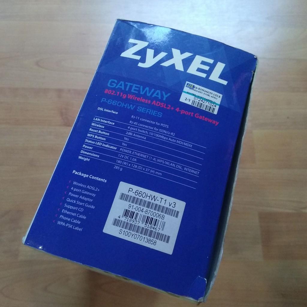 ZyXEL P-660HW-T1-W Wireless ADSL Modem Router สภาพใหม่ 95%   Shopee