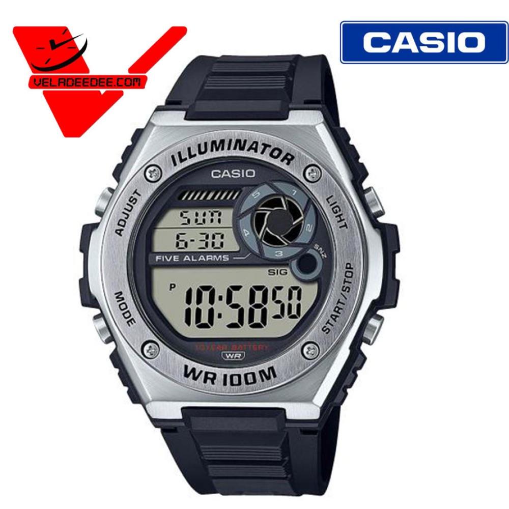 จัดส่งฟรีCASIO นาฬิกาผู็ชาย สายสแตนเลส-เรซิ่น (ประกันCMG ศูนย์เซ็นทรัล 1ปี) รุ่น MWD-100HD-1A(สีเงิน) MWD-100H-1A(สีดำ)