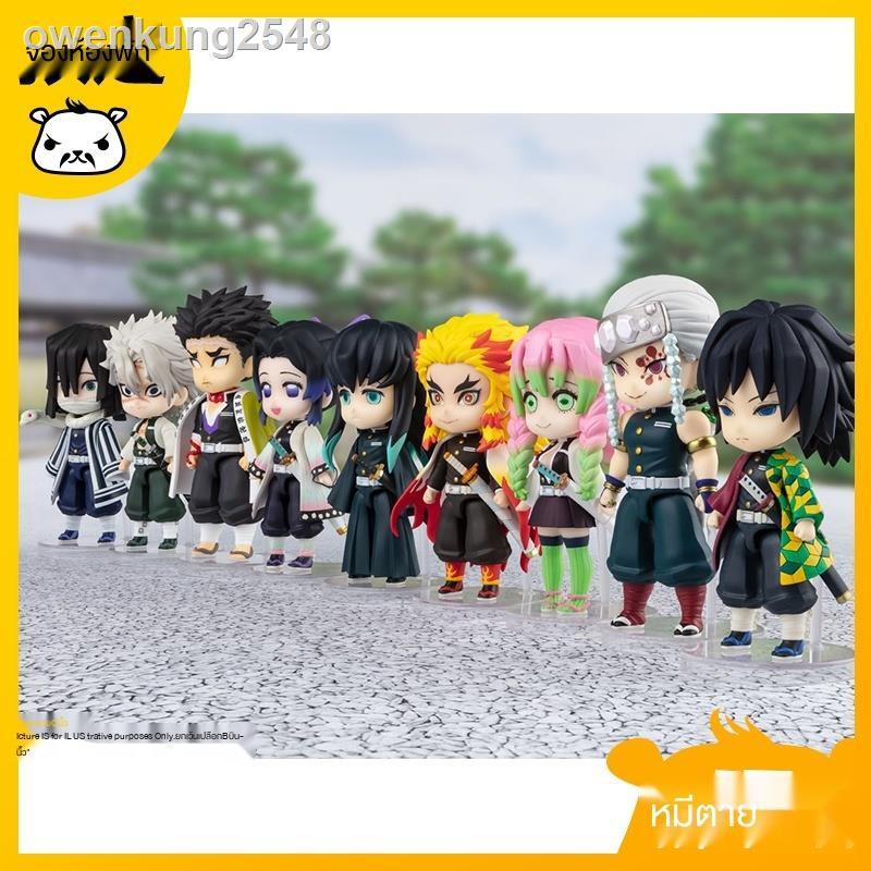 🔥Demon Slayer Mini Figure Toy Set แว่นดาบ figureModel play bear Bandai figuarts mini Demon Slayer Blade Hu Butterfly