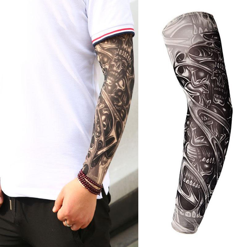 Sleeves 3D Tattoo Printed Outdoor Cycling Arm warmer UV Protection Sleves Riding