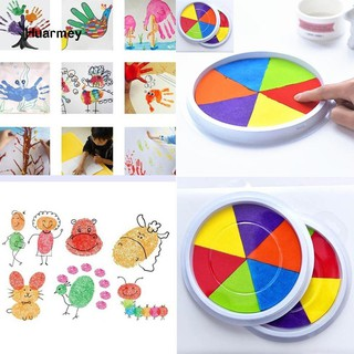★Children Kids DIY Fingerprint Painting Mud Pigment Graffiti Toy Colorful Inkpad