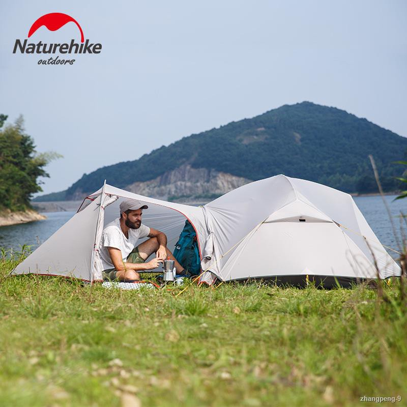 ♠Naturehike Mongar 2 Tent, 2 Person Camping Tent Outdoor Ultralight 2 Man Camping Tents Vestibule Need To Be Purchased S