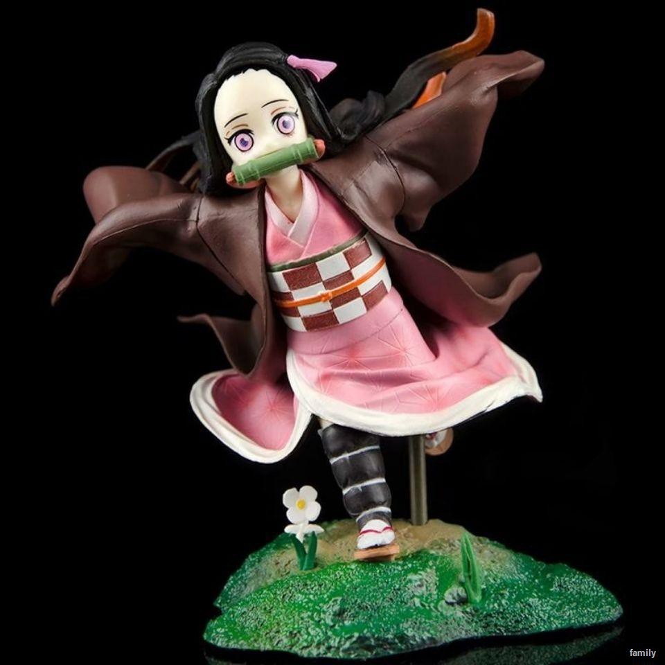 ราคาต่ำสุด✽❄Anime Demon Slayer: Blade GK Running Nidouzi Sister Slayer Figure Model Gift