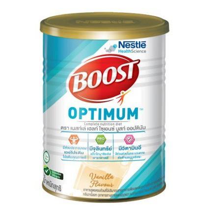 ❁┅Boost Optimum 400กรัม (Nutren) บูสท์ ออปติมัม นมผง สำหรับผู้ป่วย ผู้สูงอายุ โปรตีน อาหารทางการแพทย์