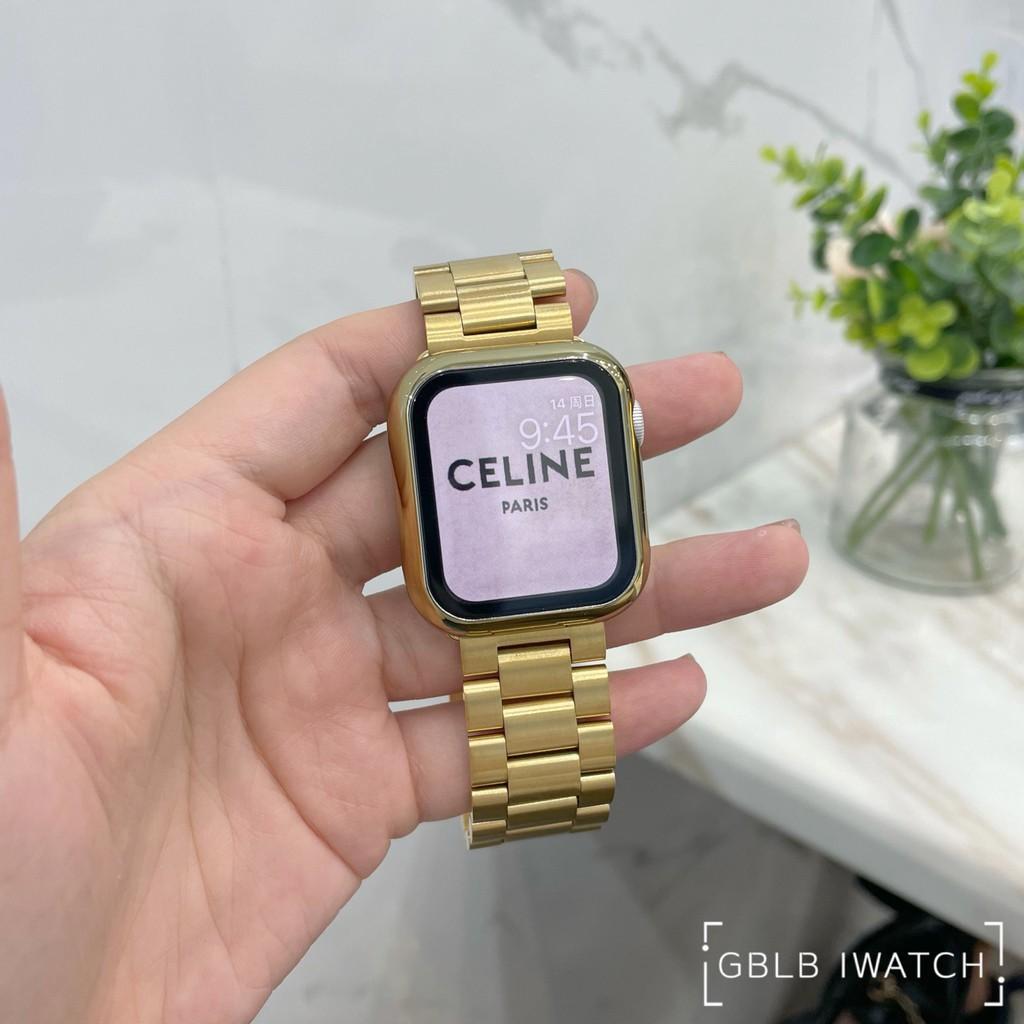 สาย applewatch❀☋ใช้ได้กับสาย Apple Watch iwatch สายสแตนเลสสตีล Solid Chain Applewatch6SE54321 ความหรูหรารุ่น