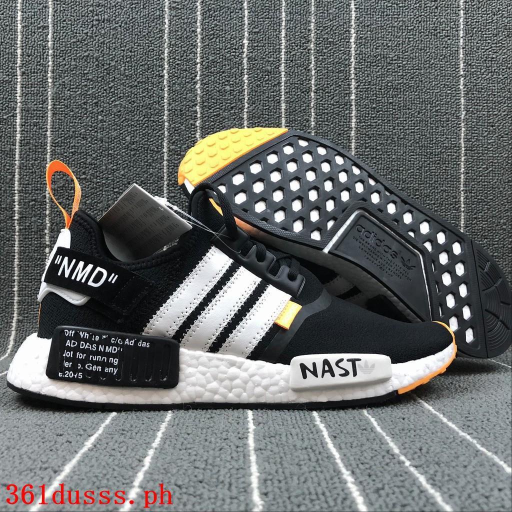 New Original OFF WHITE x Adidas NMD รองเท้าวิ่งสำหรับผู้ชาย