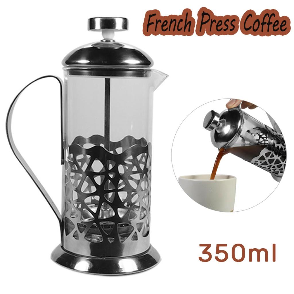กาสำหรับชงชาและกาแฟ Press Coffee ขนาด 350 ml เหยือก กาชงชา ที่ชงกาแฟ กาชงกาแฟ เครื่องชงกาแฟ ที่ชงกาแฟสด แบบกด ทำกาแฟสดทา