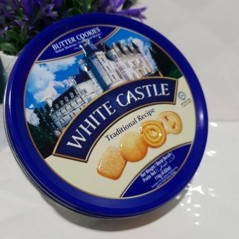 White castle cookies traditional recipe #คุ้กกี้รสดั้งเดิม ขนาด 114 กรัม ในกระปุกสวยงาม ทานง่าย มีฮาลาล ล็อตใหม่ล่าสุด