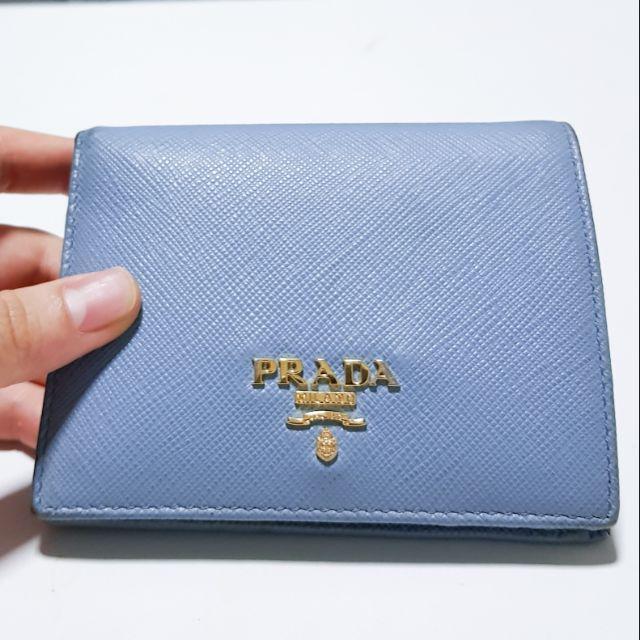 กระเป๋าตังค์ Prada ของแท้มือสอง Saffiano Wallet แท้แน่นอน จากช้อป paragon ใช้น้อยครั้งมาก