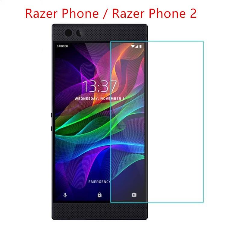 2 X ฟิล์มกันรอยหน้าจอโทรศัพท์มือถือสําหรับ Razer Phone/razer Phone 2 พรีเมี่ยมสีดํา