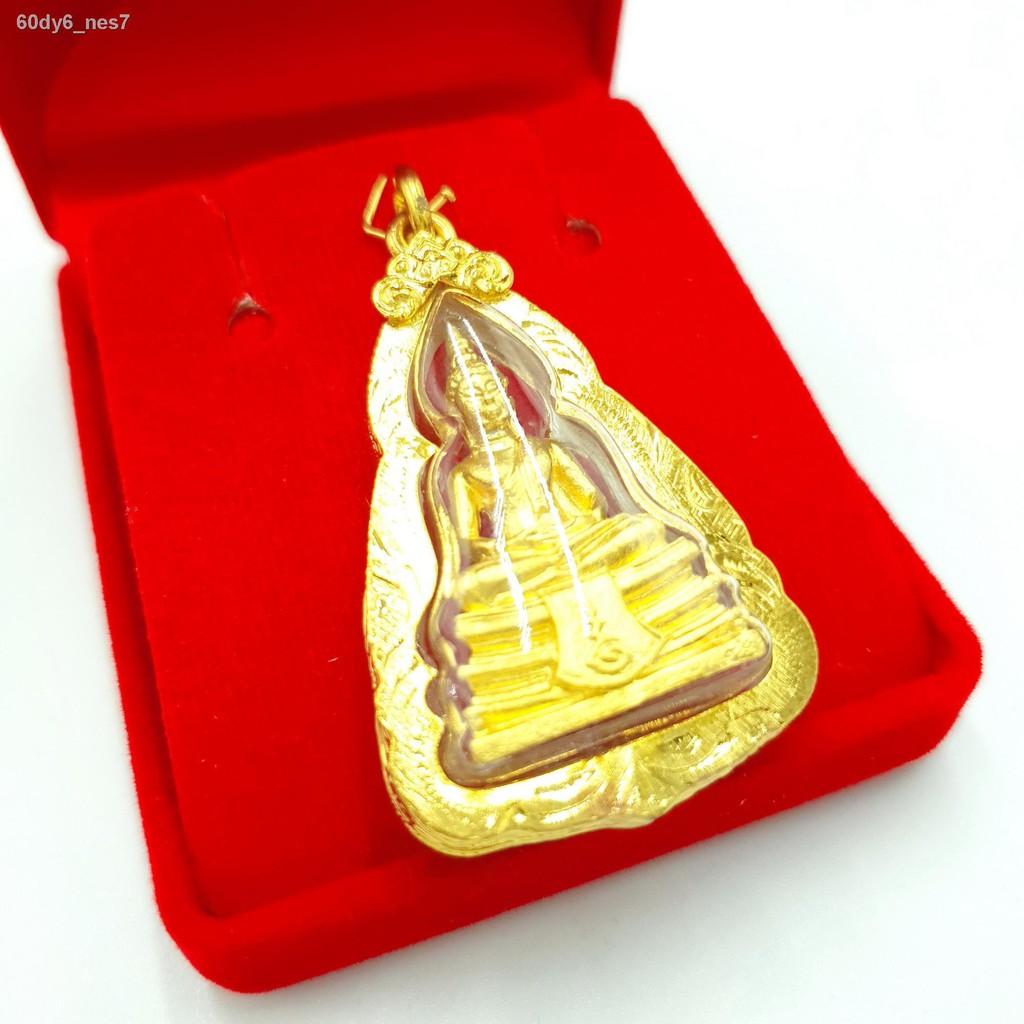 【ลดราคา】¤№☑จี้พระโสธรชุบทองคำแท้ 24K ทองไมครอนเลี่ยมกรอบกันน้ำสินค้าพร้อมส่งฟรีตลับทอง