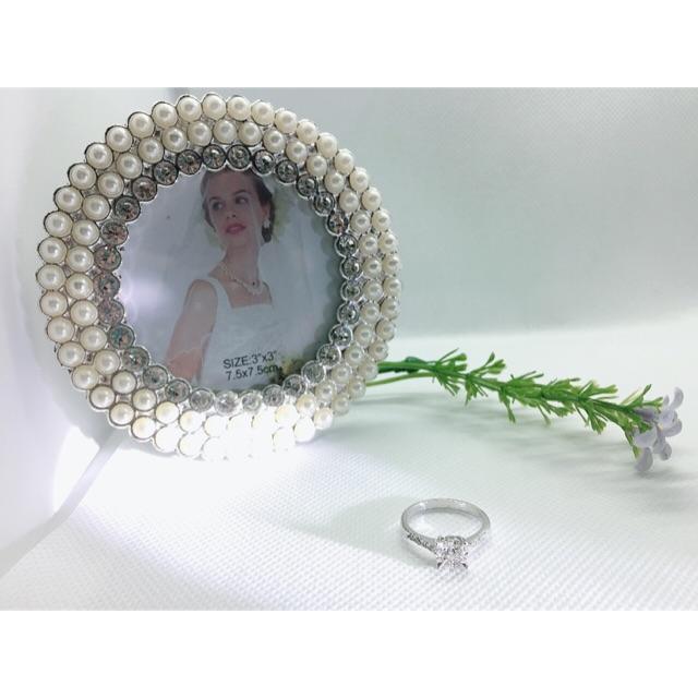 แหวนเพชรแท้ ทองคำขาว ราคาไม่แพง ผ่อนชำระได้ (RD16-0931) 💎