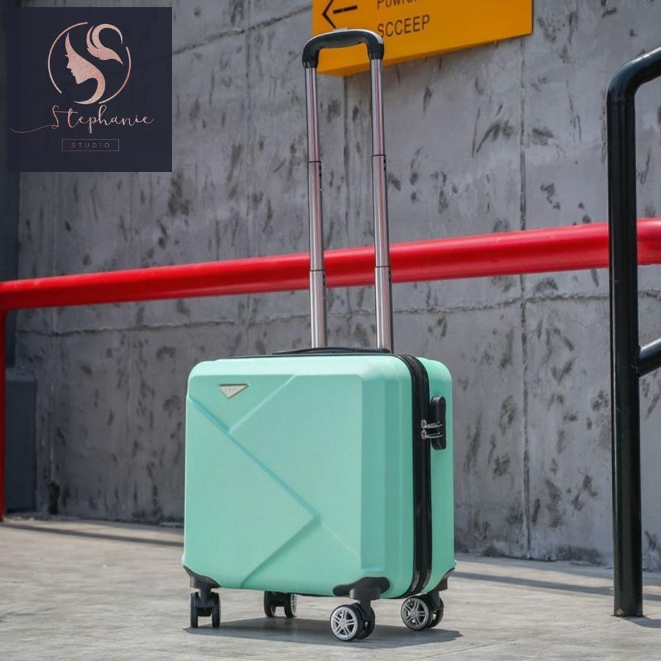 กระเป๋าเดินทางชายฟ้าผ่าขนาด 18 นิ้ว กระเป๋าเดินทางล้อลากนักเรียนหญิง กระเป๋าเดินทางความจุขนาดใหญ่ กระเป๋าเครื่องสำอาง 14