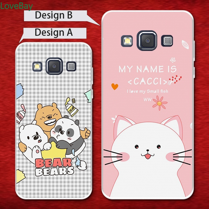 LB-Samsung A3 A5 A6 A7 A8 A9 Star Pro Plus E5 E7 2016 2017 2018 Bear Soft Silicon TPU Case Cover