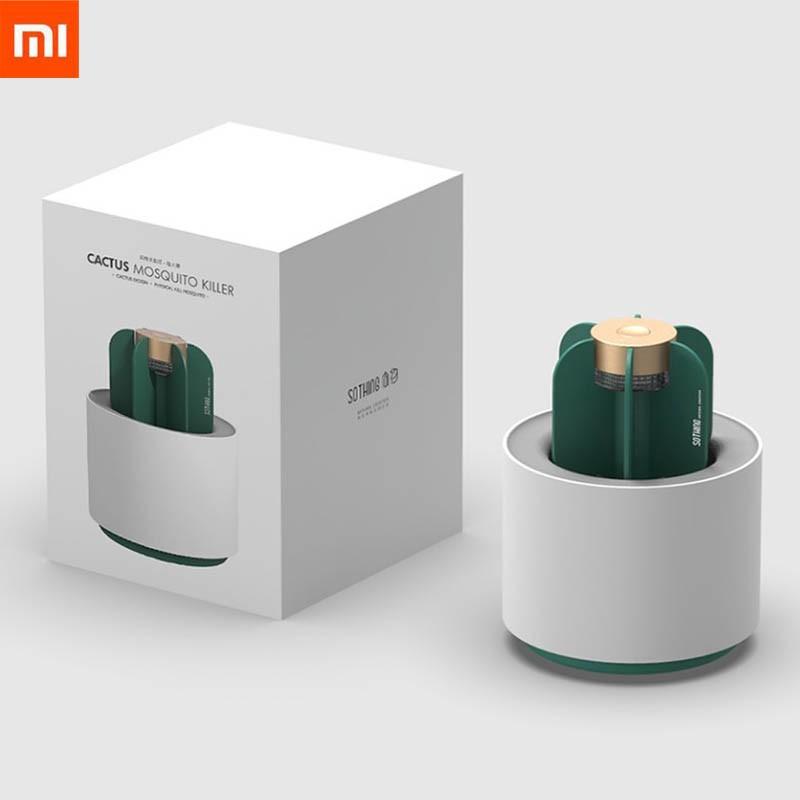 เครื่องดักยุง Xiaomi Sothing Cactus Mosquito Killer Light Eletric UV Light ไม่มีเสียงรบกวน ไม่มีกลิ่น (สินค้าพร้อมส่ง)