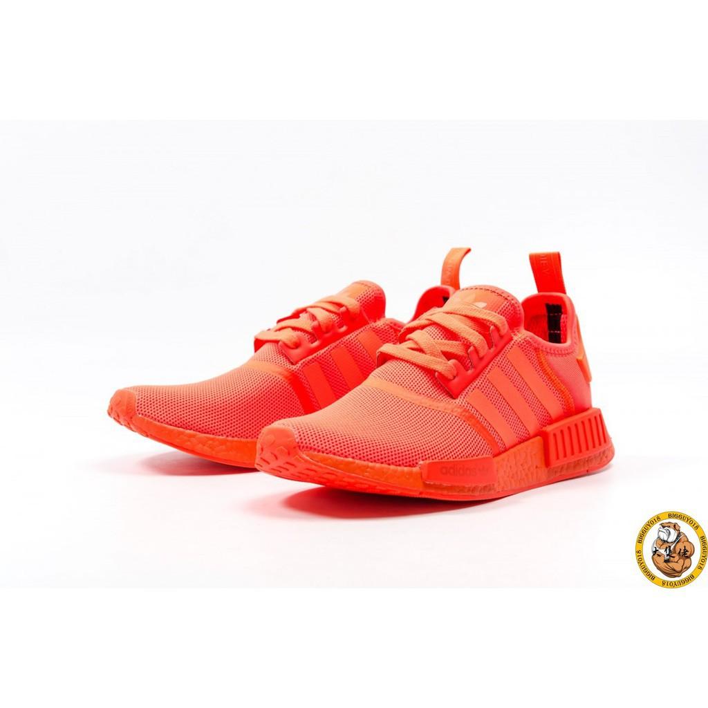 ถุงเท้า Adidas NMD_R1 PK Primeknit สีส้มแดงสำหรับผู้ชายและผู้หญิง S31507