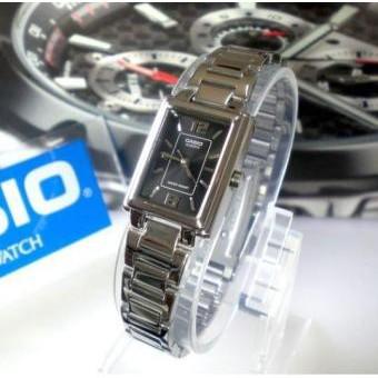 นาฬิกาข้อมือ(เลือกรุ่น,สี ทักแชท) Casio Standard ผู้หญิง สายสแตนเลส หน้าปัดดำ รุ่น LTP-1238D-1 นาฬิกาแฟชั่น นาฬิกาข้อมือ