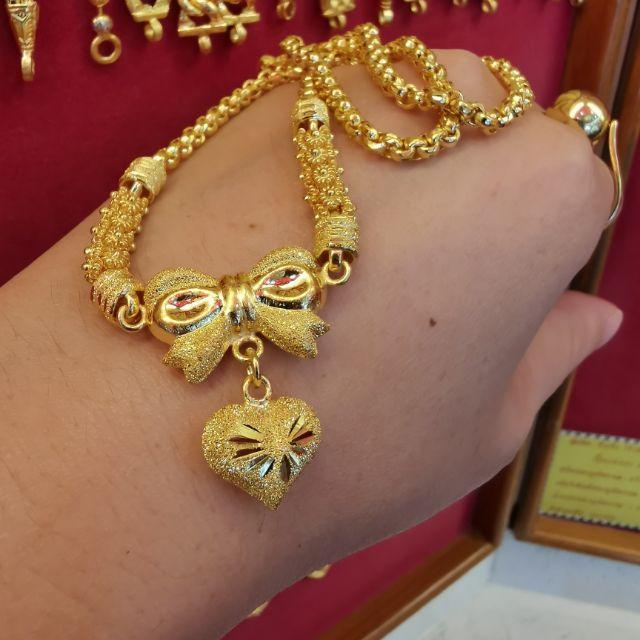 สร้อยคอทอง 96.5%  น้ำหนัก 2 บาท ยาวไม่รวมจี้ 21cm ราคา 57,500บาท