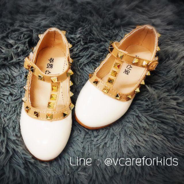 รองเท้าคัชชู เด็กหญิง สีขาว