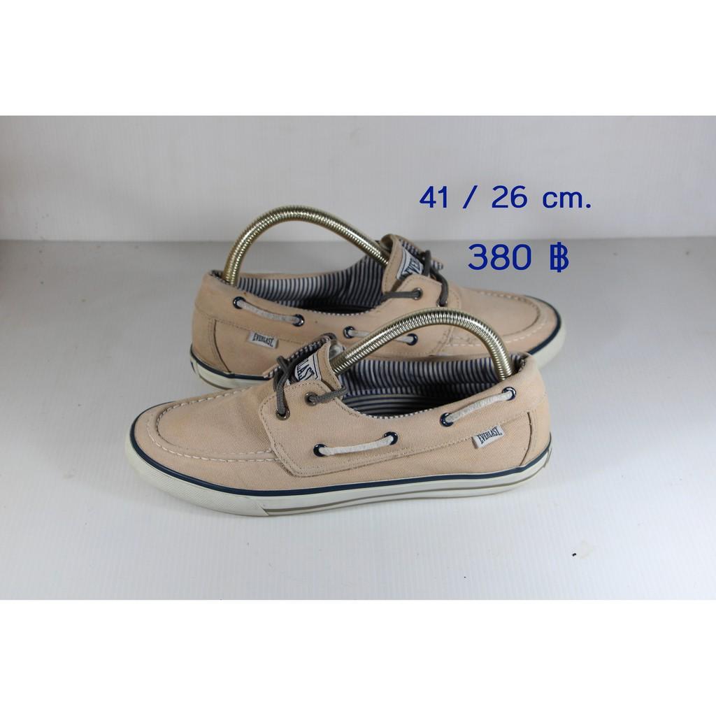 รองเท้า Everlast คัชชูผ้า  ขนาด 41 - 26 ซม. (ลดราคา)