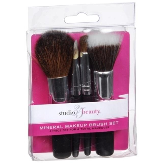 Mineral Makeup Brush Set Black