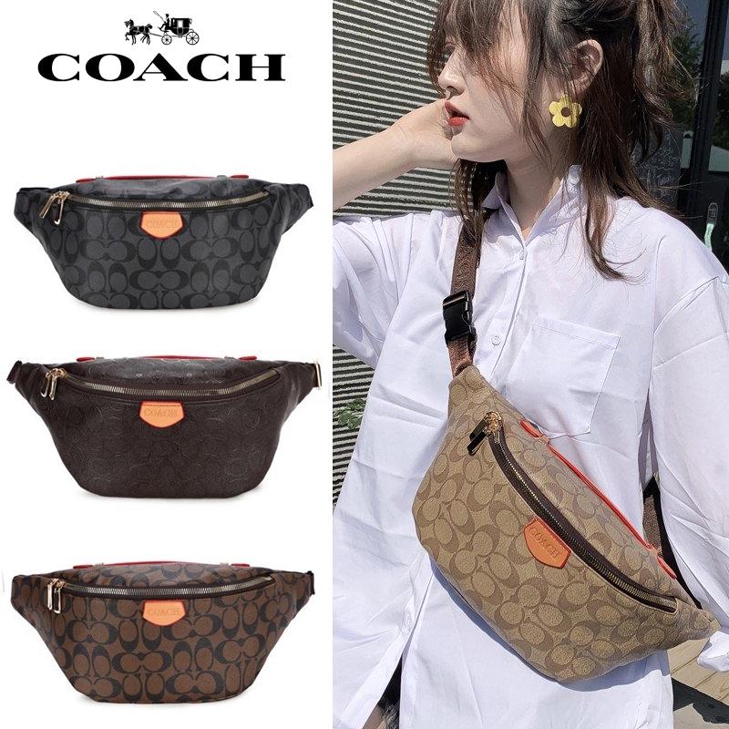 กระเป๋า COACH แท้ กระเป๋าสะพายข้าง sling waist bag กระเป๋าสะพายข้างผู้หญิง